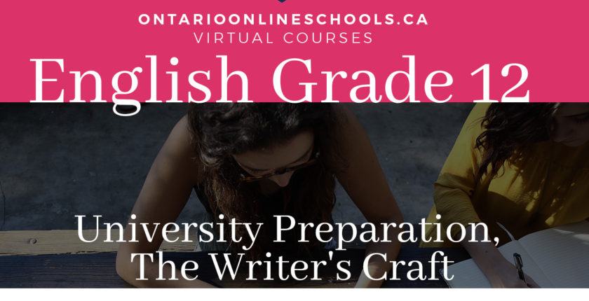 English, Grade 12, University Preparation, The Writer's Craft