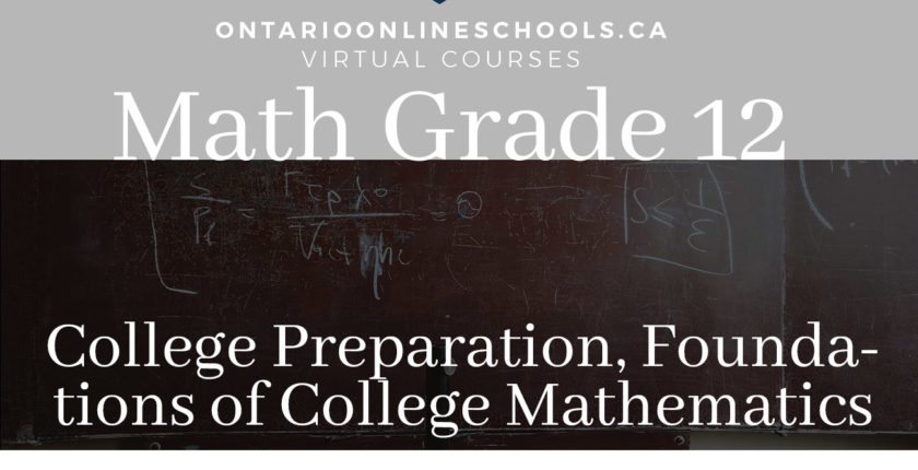 Grade 12, College Preparation, Foundations of College Mathematics