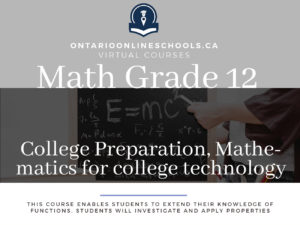Grade 12, College Preparation, Mathematics for College Technology