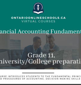 Financial Accounting Fundamentals, Grade 11, University/College Preparation