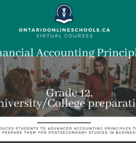Financial Accounting Principles, Grade 12, University/College Preparation