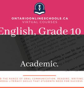 Grade 10, English. Academic, ENG2D