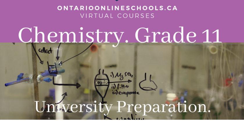 Grade 11, Science. Chemistry. University Preparation, SCH3U