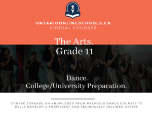 Grade 11, The Arts. Dance. University/College Preparation, ATC3M