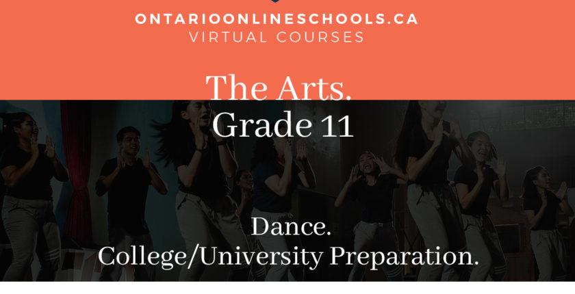 Grade 11, The Arts. Dance. University/College Preparation, ATC3M