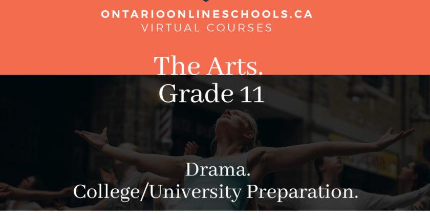 Grade 11, The Arts. Drama. University/College Preparation, ADA3M