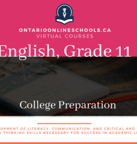 Grade 11, English. College Preparation, ENG3C