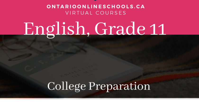Grade 11, English. College Preparation, ENG3C