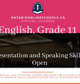 Grade 11, English. Presentation and Speaking Skills. Open, EPS3O