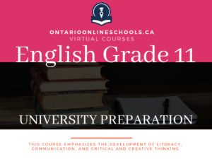 Grade 11, English. University Preparation, ENG3U