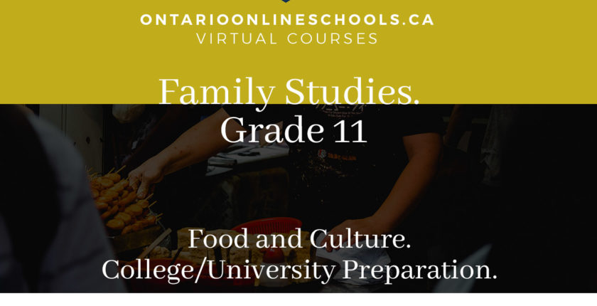 Grade 11, Social Studies and the Humanities. Food and Culture. University/College Preparation, HFC3M