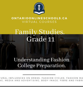 Grade 11, Social Studies and the Humanities. Understanding Fashion. College Preparation, HNC3C