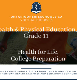 Grade 11, Health and Physical Education. Health for Life. College Preparation, PPZ3C