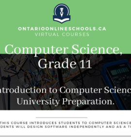 Grade 11, Computer Science. Introduction to Computer Science. University Preparation, ISC3U