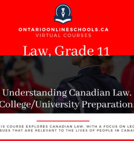 Grade 11, Canadian and World Issues. Understanding Canadian Law. University/College Preparation, CLU3M