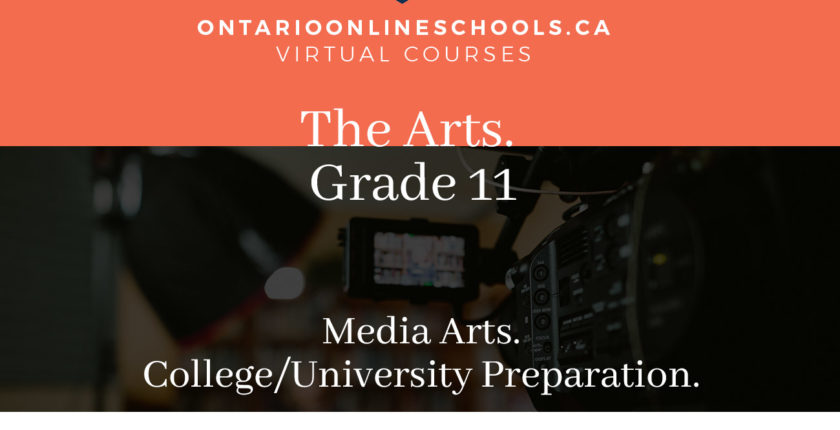 Grade 11, The Arts. Media Arts. University/College Preparation, ASM3M