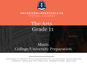 Grade 11, The Arts. Music. University/College Preparation, AMU3M