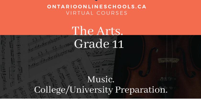 Grade 11, The Arts. Music. University/College Preparation, AMU3M