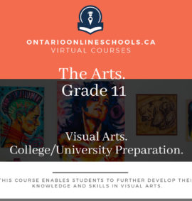 Grade 11, The Arts. Visual Arts. University/College Preparation, AVI3M