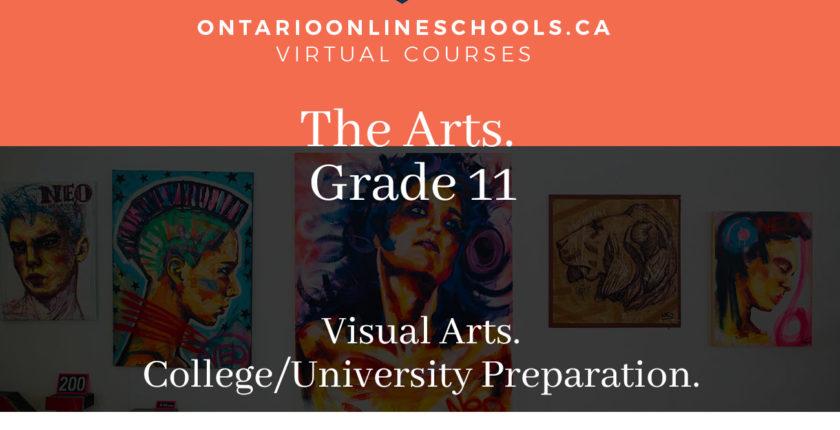 Grade 11, The Arts. Visual Arts. University/College Preparation, AVI3M