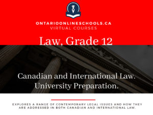 Grade 11, Canadian and World Issues. Canadian and International Law. University Prep, CLN4U