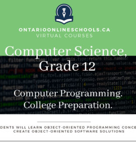 Grade 12, Computer Science. Computer Programming. College Preparation, ICS4C