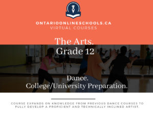 Grade 12, The Arts. Dance. University/College Preparation, ATC4M