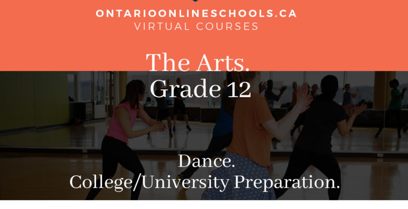 Grade 12, The Arts. Dance. University/College Preparation, ATC4M
