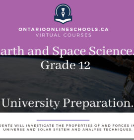 Grade 12, Science. Earth and Space Science. University Preparation, SES4U