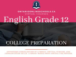 Grade 12, English. College Preparation, ENG4CO