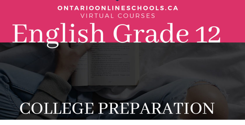 Grade 12, English. College Preparation, ENG4CO