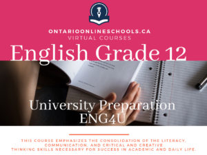 Grade 12, English. Studies in literature. College Preparation, EWC4C