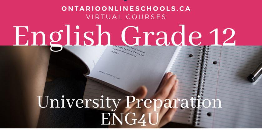 Grade 12, English. Studies in literature. College Preparation, EWC4C