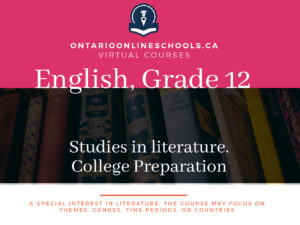 Grade 12, English. Studies in Literature. University Preparation, ETS4U