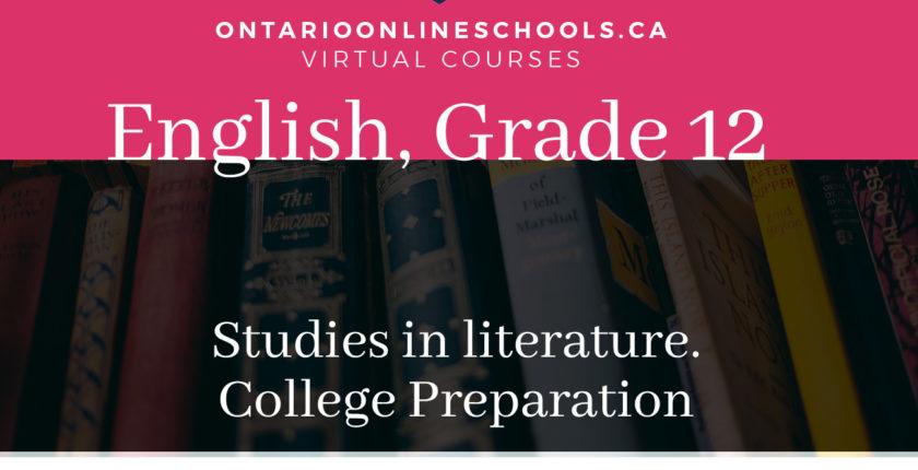 Grade 12, English. Studies in Literature. University Preparation, ETS4U