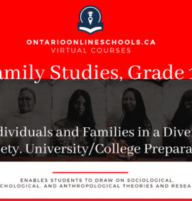 Grade 12, Canadian and World Issues. Individuals and Families in a Diverse Society. University/College Preparation, HHS4M