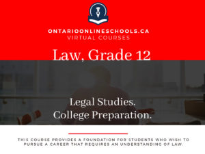 Grade 12, Canadian and World Issues. Legal Studies. College Preparation, CLN4C