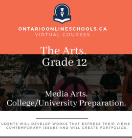 Grade 12, The Arts. Media Arts. University/College Preparation, ASM4M