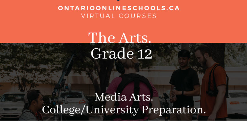 Grade 12, The Arts. Media Arts. University/College Preparation, ASM4M