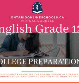 English, Grade 12 College Preparation Course